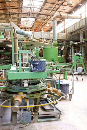 Automatic factory line in big pot plant photo