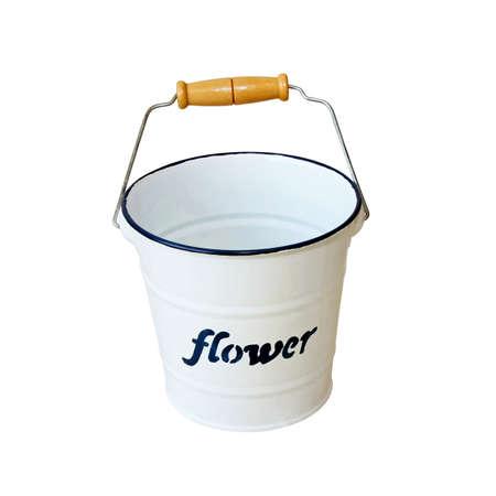 bucket water: Cubo de agua blanca Foto de archivo