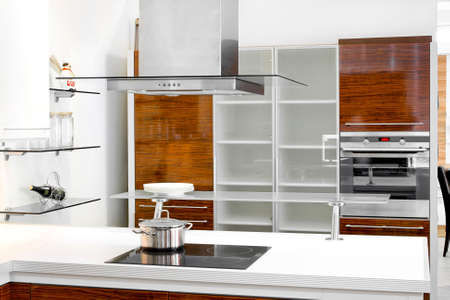 Inter of wooden kitchen with modern appliances Stock Photo - 6017202