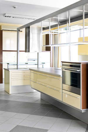 Interior shot of contemporary yellow style kitchen Stock Photo - 6017179