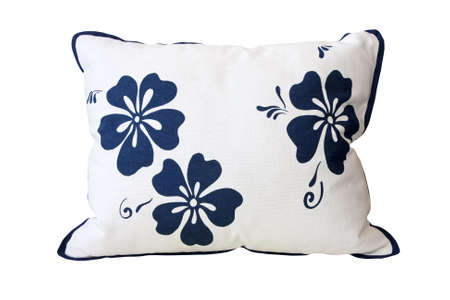 Floral style pillow isolated included clipping path Imagens