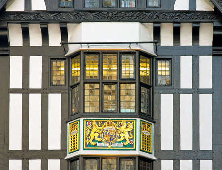 Detail of traditional Victorian house in London photo