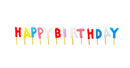 Colorful birthday candles Stock Photo - 7305821