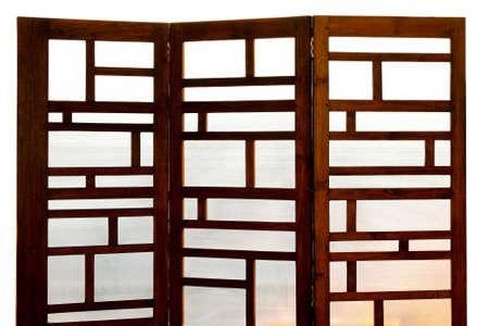 Close up colpo dello schermo di legno e vetro  Archivio Fotografico