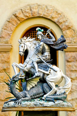 St. George kill the dragon mythology sculpture