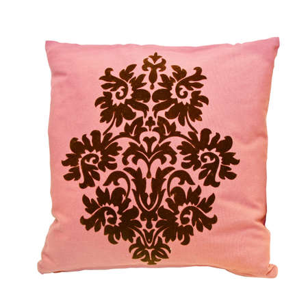 Pink decoration pillow isolated