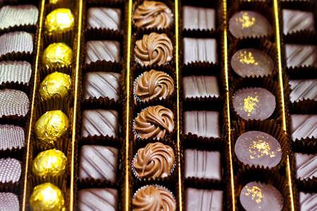 Big box of luxury chocolate assortment treat
