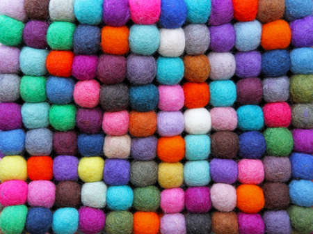 Pattern of colorful balls made of wool