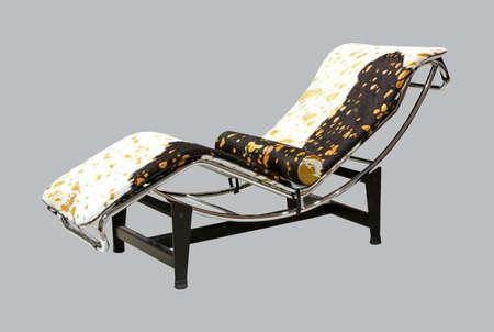 Animal imprimir lounge chair  Foto de archivo