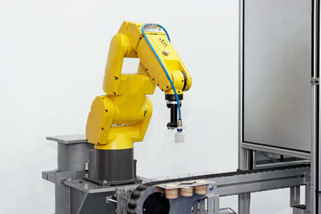 Robotic arm at production line in factory Reklamní fotografie
