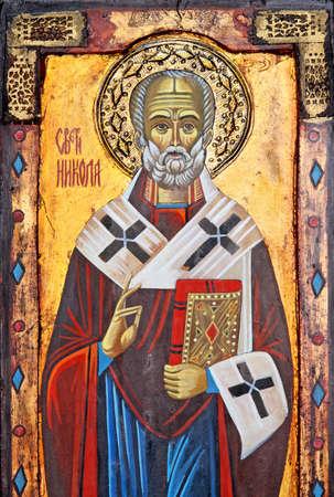 Icon of popular Christian religion Saint Nicolas Stock Photo - 11041172