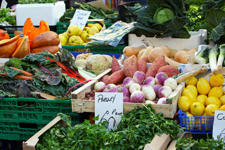 Organic vegetables and fruits at Farmers market Stock Photo - 12116678