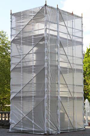 Denkmal restauriert und Baugerüste Zaun Standard-Bild - 13915883