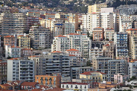 overcrowded: Overcrowded skyscrapers and buildings in Monte Carlo