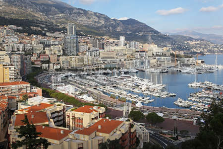 Panoramic cityscape of Monte Carlo at sunny afternoon photo