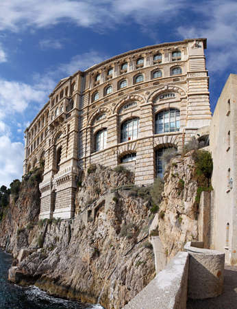 oceanographic: Famous building of Oceanographic Institute in Monaco
