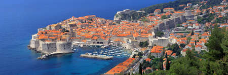 croatia dubrovnik: Panorama of old city Dubrovnik in Croatia