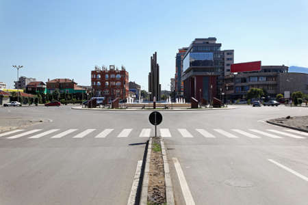 albania: Democracy square in Shkoder city centre Albania Stock Photo