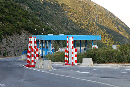 gamma radiation: Border control point with  vehicle portal monitor system