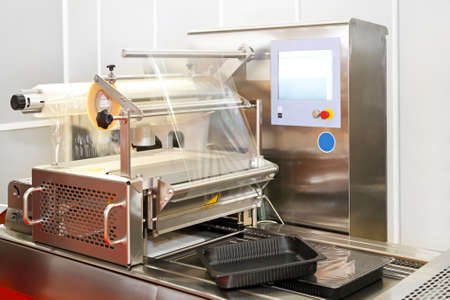 cling: Foil packing machine line for cling film Stock Photo