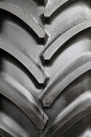 duties: Close up shot of tractor tyre pattern Stock Photo