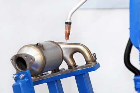converter: Catalytic converter and exhaust parts welding process