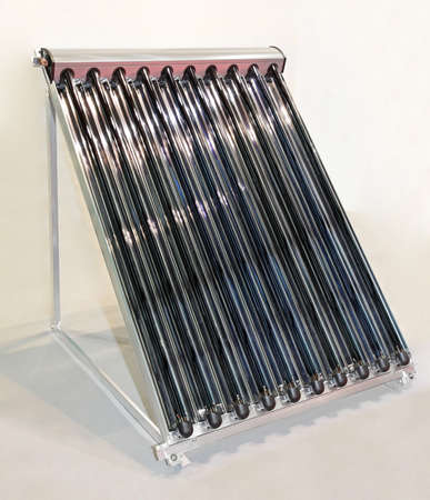 heater: Rooftop solar water collector with glass tubes