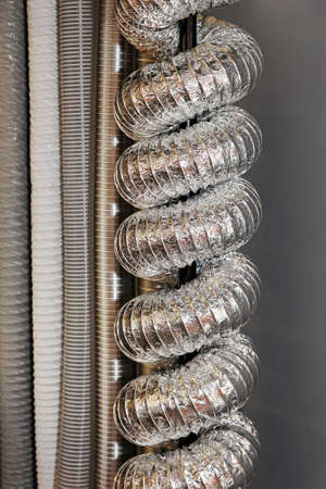 air duct: Ventilation pipes and tubes with aluminium isolation