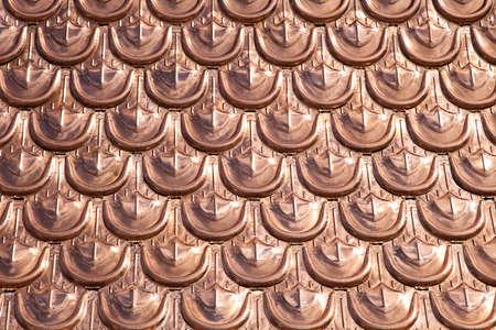 gürtelrose: Expencive und Luxus cooper Dach Muster Hintergrund