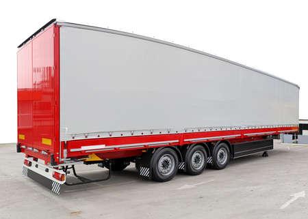 Long freight transport trailer for semi truck