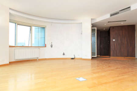 spacey: New and empty living room in big apartment