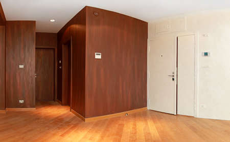 Entrance to  modern apartment with brown walls Stock Photo - 14942426