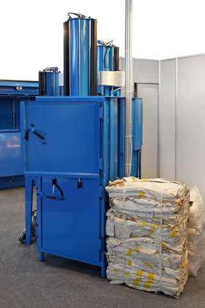 Vertical hydraulic press machine for recycling materials photo