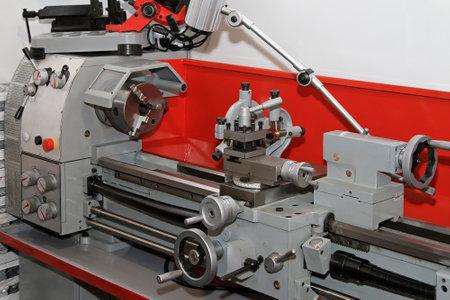industrial machinery: Metalwork lathe machine tool in work shop