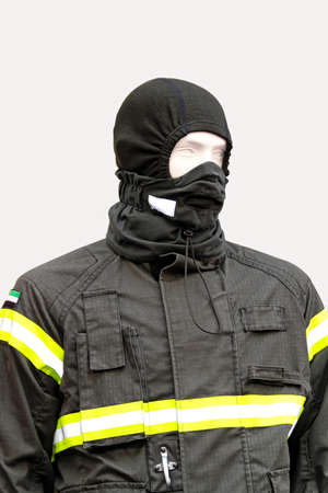 Black balaclava and protective jacket technical clothing Stock Photo - 15081891