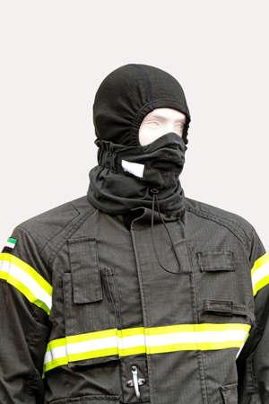 Black balaclava and protective jacket technical clothing Stock Photo - 15081891