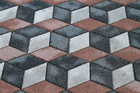 Old tiles with 3d optical illusion Stock Photo - 15174483