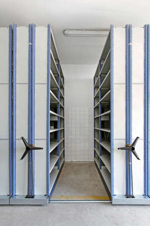 Automated shelving system with mobile cabinet for documents Stock Photo - 15165270