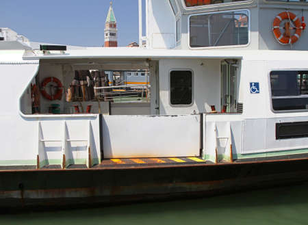 waterbus: Vessel with entrance for disabled in Venice Stock Photo