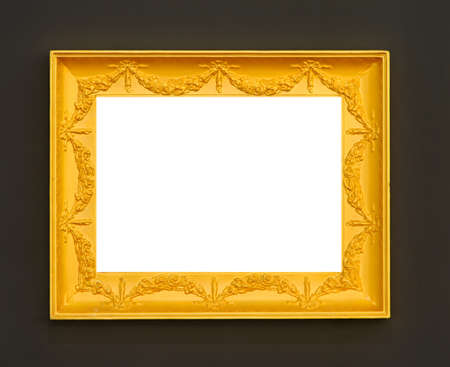 Retro decorative golden frame with carved details Stock Photo - 15390849