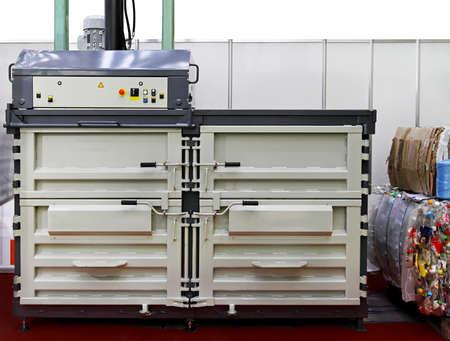 Hydraulic baling press machine for plastic waste Stock Photo - 15416807