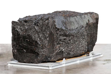 Big block of black anthracite coal ore Stock Photo - 15416893