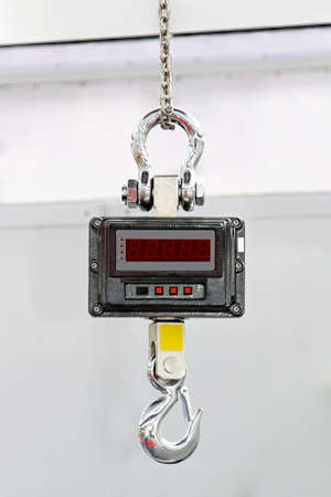 Heavy veight digital hanging scale with hook Stock Photo - 15548774