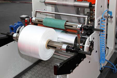 maquinaria: Impresi�n y embalaje m�quina de rollo de pl�stico Foto de archivo