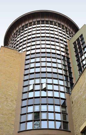Building exterior with oval glass windows facade Stock Photo - 16026455