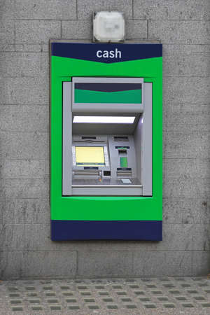 cash dispenser: Automated teller machine cashpoint hole in the wall