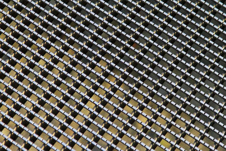 Detailed pattern of industrial silver metal grid Stock Photo - 16127063