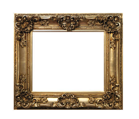 Retro bronze frame isolated  Stock Photo - 16246911