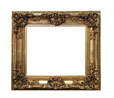 Retro bronze frame isolated Stock Photo - 16246911