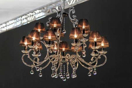 abatjour: Retro in cristallo lampadario in stile con paralumi scure